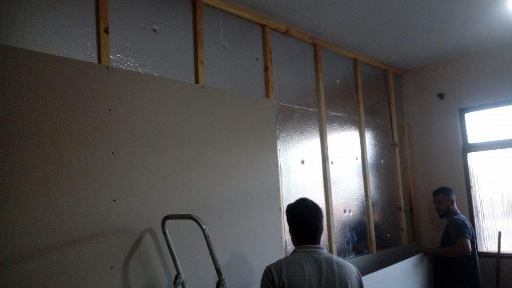 3TC Isolamento e Drywall ripas de madeira
